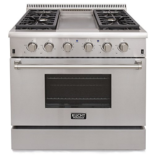 Kucht KRG3609U Professional 36'' 5.2 cu. ft. Natural Gas Range, Stainless-Steel by Kucht