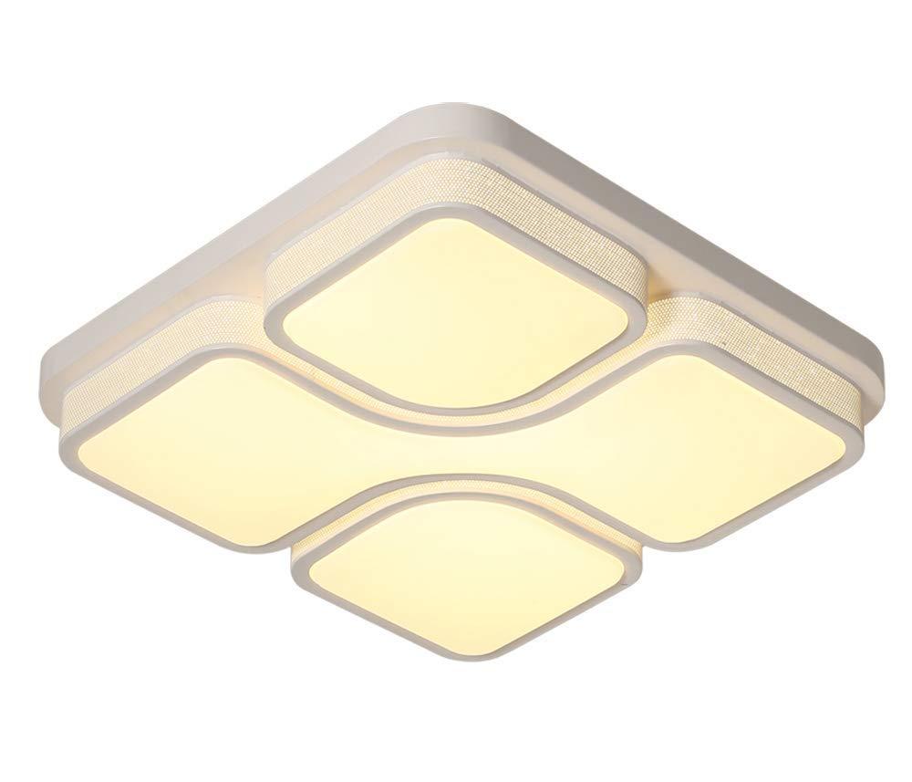 Style home 24W LED Deckenlampe Deckenleuchte Warmweiss Quadratisch 6908F (Weiß)