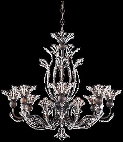 Schonbek 7863-47S Swarovski Lighting Rivendell Chandelier, Antique Pewter