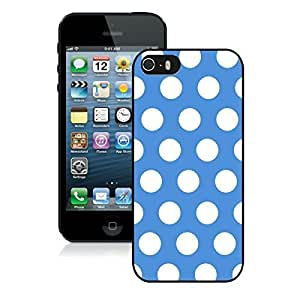 BINGO best quality Polka Dot Blue and White iPhone 5 5S Case Black Cover
