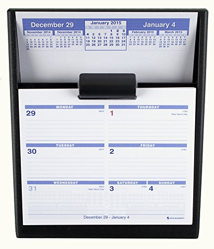 AT-A-GLANCE SW700X00 Flip-A-Week Desk Calendar and Base, 5 5/8 x 7, White, 2016