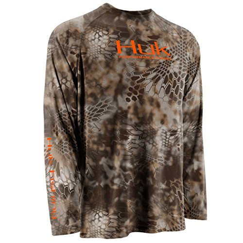 Huk Kryptek Performance Raglan Long Sleeve (Large, Banshee)