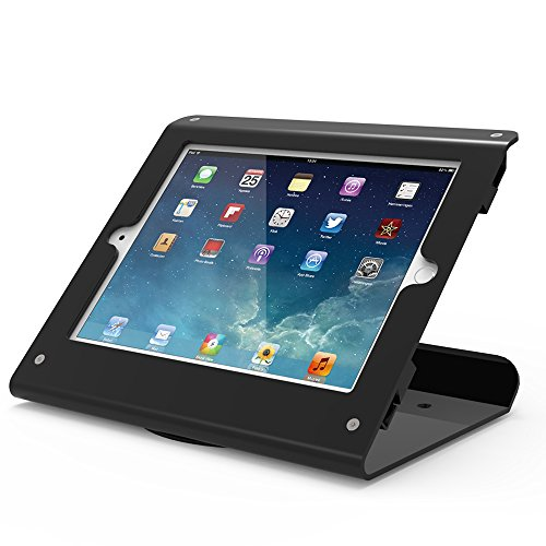 Beelta Kiosk iPad Stands - 360 Swivel Base, iPad Counter Stand for iPad Air 1,Air 2,Pro 9.7,iPad 5th,iPad 6th, Matt Black, BSC102B