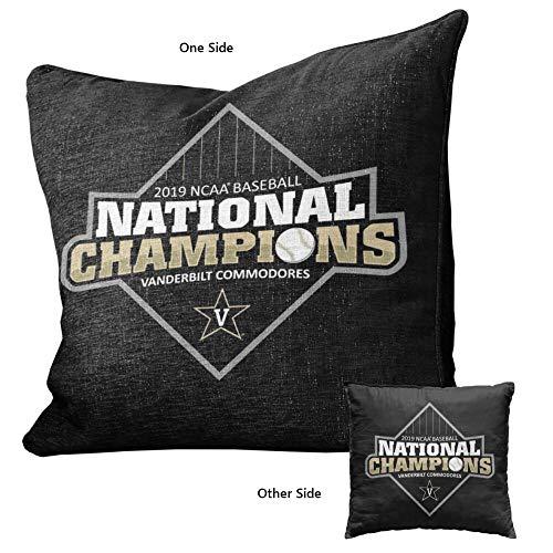 Vanderbilt University Commodores 2019 Baseball College World Series Champions Logo Pillow