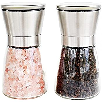 Ectreme Practical design Salt and Pepper mills - Two Sets - Silver,Stainless Steel