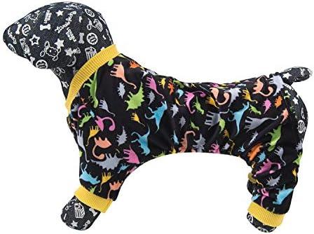 CuteBone Dog Pajamas Adorable Puppy Clothes Jumpsuit Pjs Pet Apparel Soft Fleece Cat Coat 22