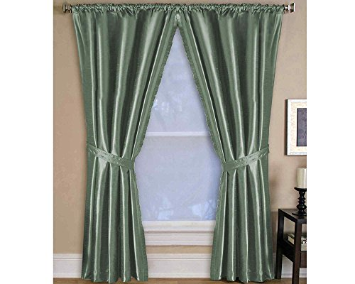Cheap Elrene Room Darkening and Energy Efficient Lined Rod Pocket Window Curtain Drape Pleated Regal Solid Panel – 52×108″ – Thyme