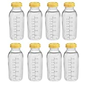 Medela Breastmilk Collection Storage Feeding Bottle with Lids-8 Pack (8 Bottles and 8 Lids)w/lid 8oz /250ml