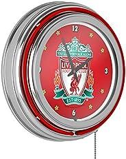 Trademark Gameroom Premier League Liverpool Football Club Chrome Double Rung Neon Clock