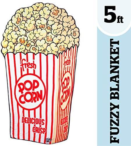 BigMouth Inc Popcorn Fuzzy Blanket