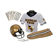Franklin Sports NCAA Georgia Tech Yellow Jackets Deluxe Youth Team Uniform Set, Medium