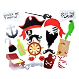 EBTOYS Pirates Photo Booth Props Pirate Birthday Party Photo Booth 22 DTY Kits Birthday Party Supplies