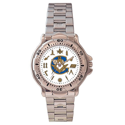 Pedre Men's Masonic Blue Lodge Bracelet Watch
