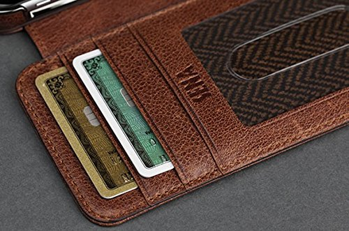 timeless design 8c137 d3eba Sena Genuine Leather Heritage Wallet Book Case for Iphone 6 (4.7-inch)  (Black)