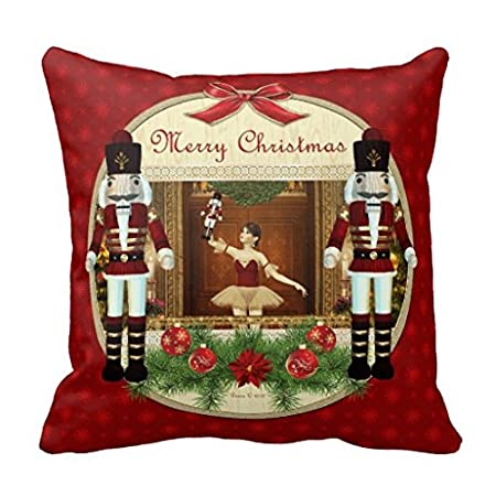 Christmas Nutcracker Ballerina Decorative Pillow Covers