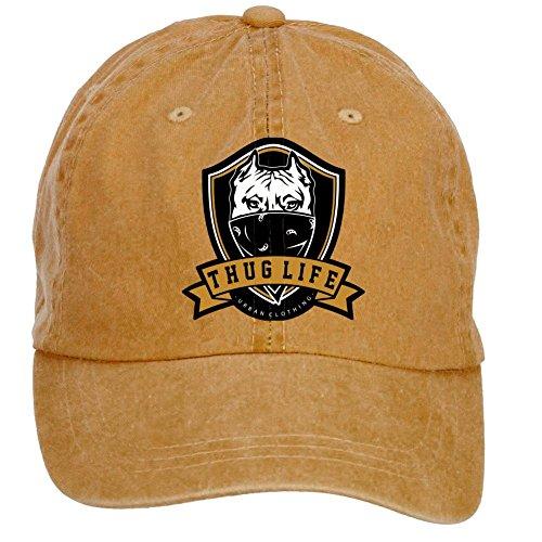 xingl-unisex-thug-life-adjustable-washed-hat-baseball-caps