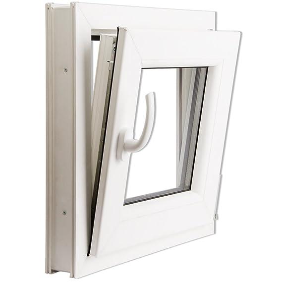 Ventana PVC oscilo-batiente con manilla en la izquierda 500 x 500 mm: Amazon.es: Bricolaje y herramientas