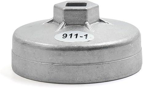 16 Rillen Sodial /Ölfilterschl/üssel 86 mm Schwarz