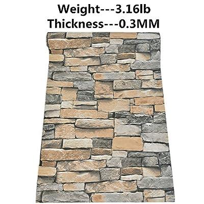 Brick Wallpaper Faux Brick Stone Textured Wallpaper Non Self-Adhesive