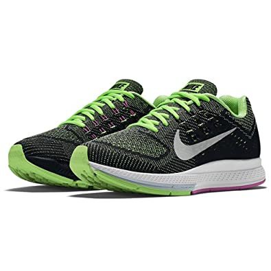 best website a57f2 787b7 ... cheapest nike womens nike zoom structure 18 running shoe silver silver  green 365d6 affa1