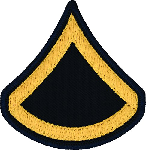 PFC E-3 Army Chevrons - Gold on Blue (Male) Army Blue Uniform