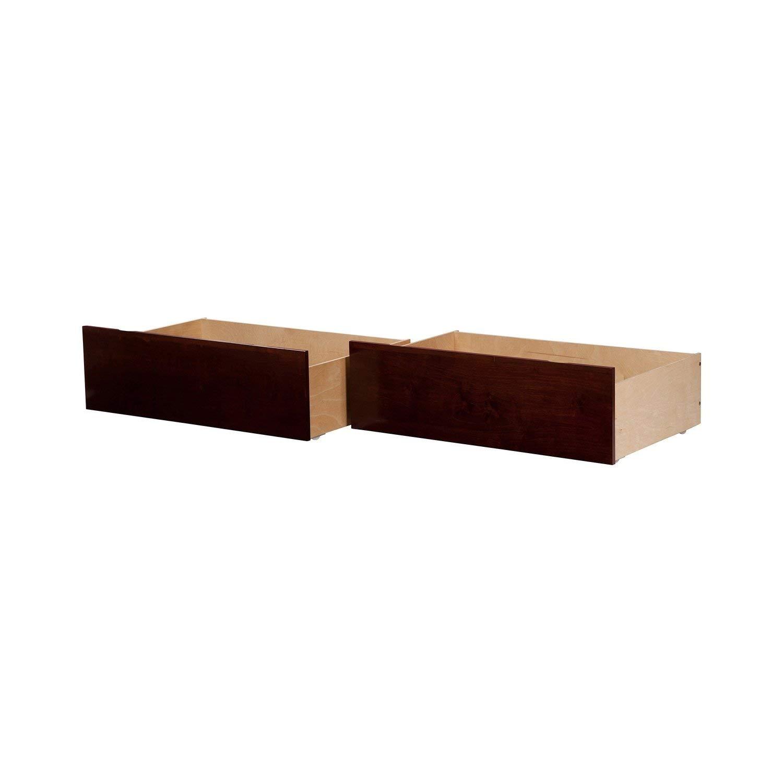 Atlantic Furniture Urban Bed Drawers Twin-Full Walnut