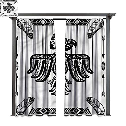 cobeDecor Thermal Insulated Drapes Eagle Mexican Heritage Tattoo Art for Lawn & Garden, Water & Wind Proof W108 xL108