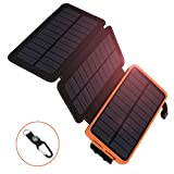 Solar Charger 12000 mAh Portable Solar Power Bank with 3...