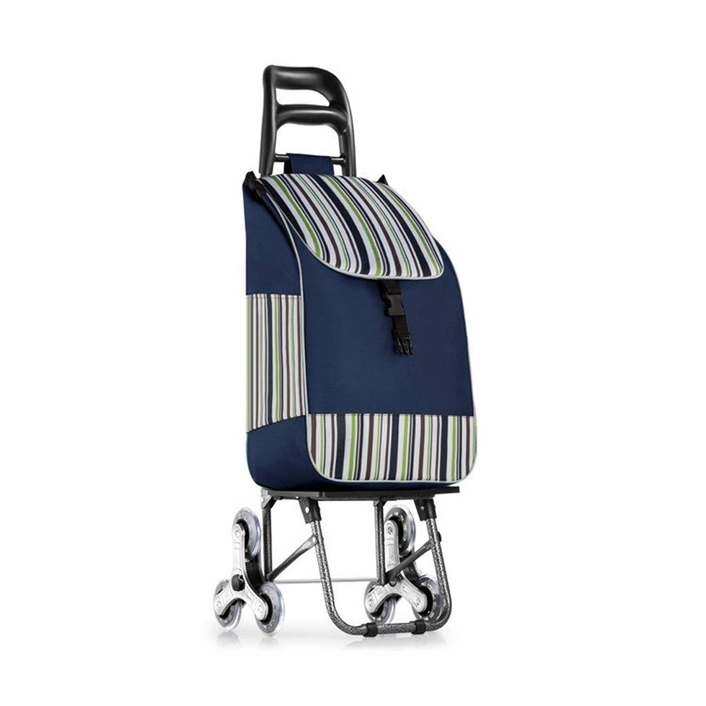 Lxrzls Lightweight Shopping Trolley - Household Portable Trolley - Foldable Bag Luggage Grocery Cart - Unisex Designs