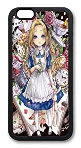 Alice Wonderland Anime 2 TPU Silicone Case Cover for iPhone 6 Plus 5.5 inch Black