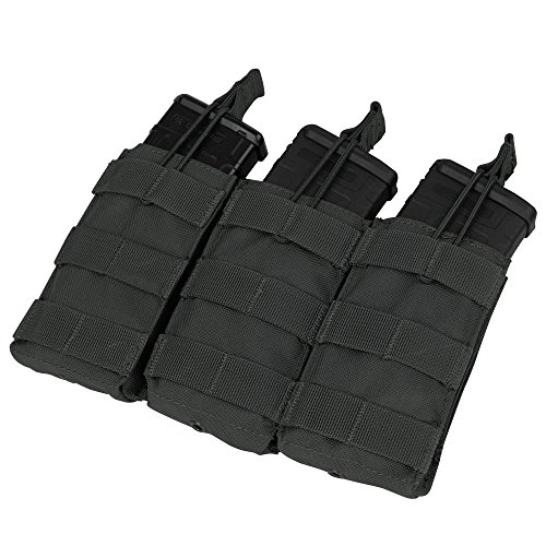 Condor Triple M4/M16 Open Top Mag Pouch, Black