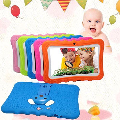 7'' Kids Tablet PC, Android 4.4 4GB ROM 512MB RAM Tablet Dual Camera WiFi USB Phablet Silicone Case by XINSC (Image #3)