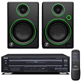 Teac PD-D2610MKII 5-Disc Carousel CD Player with Remote plus Mackie CR Series CR3 - 3'' Creative Reference Multimedia Monitors (Pair)