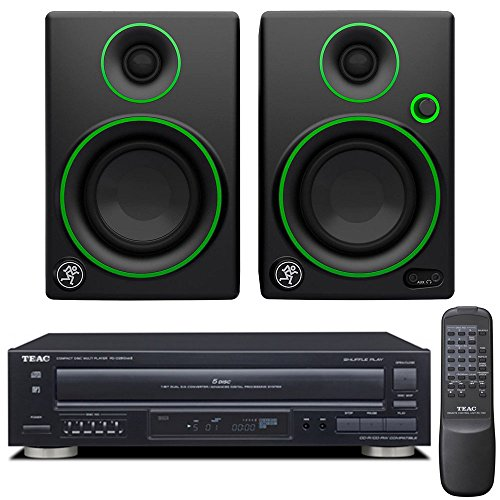Teac PD-D2610MKII 5-Disc Carousel CD Player with Remote plus Mackie CR Series CR3 – 3″ Creative Reference Multimedia Monitors (Pair)