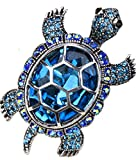 Angel Jewelry Women's Crystal Big Turtle Pin Brooch Pendant