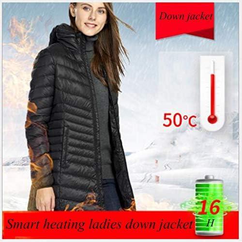 HWZZ Doudoune chauffante /électrique intelligente dhiver chaude et r/ésistante au froid r/églable de la temp/érature pour sports de plein air