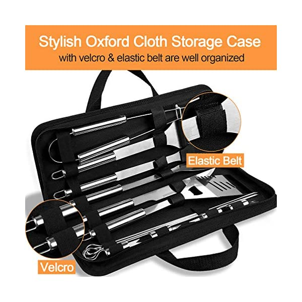 Anpro Grilling Accessories BBQ Tools Set, 21 PCS Stainless Steel Grill Kit with Case, Great Barbecue Utensil Tool for… 7