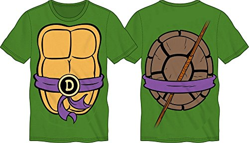 TMNT Teenage Mutant Ninja Turtles Mens Costume T-shirt (Medium, Donatello) ()