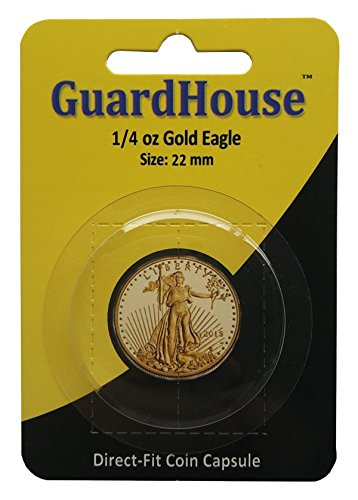 American Gold/Platinum Eagle Half Ounce Direct Fit Guardhouse Coin Capsule (0.5 Coin Silver Ounce)