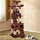 Tobbi 3 Viewing Platforms Cat Tree Condo Scratching Post Play House-67 inches