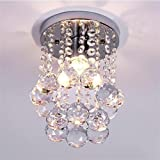 Goeco Mini Modern Crystal Chandeliers Ceiling Light for Girls Room,Bedroom and Hallway