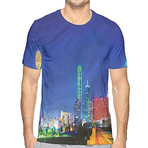 t Shirt Printer USA,Panoramic Overview Dallas City Junior t Shirt XL -