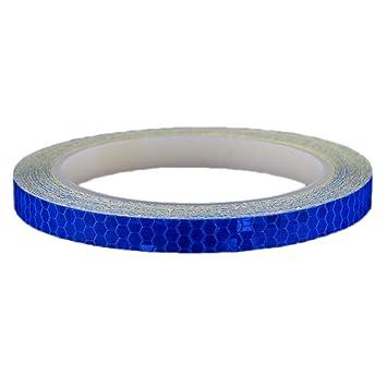 VORCOOL Pegatina Adhesiva Reflectante de Rueda de Bicicleta y Moto para Accesorio de Seguridad 8M (Azul): Amazon.es: Hogar