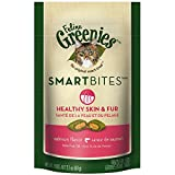 Feline Greenies Smartbites Healthy Skin And Fur Treats For Cats Salmon Flavor 2.1 Oz.
