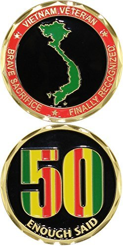 Vietnam Veteran Enough Said 50th Anniversary Challenge Coin