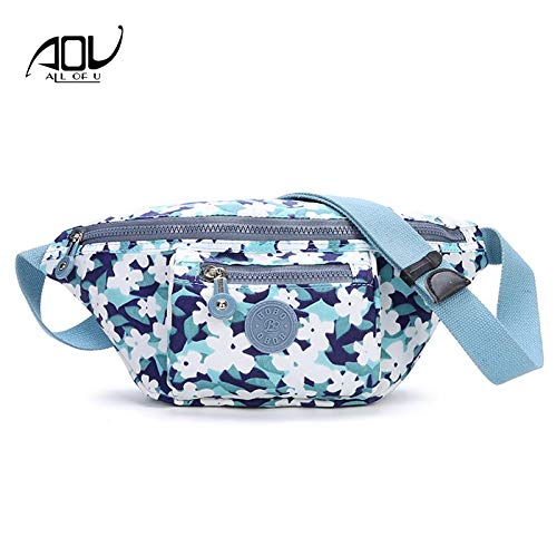 Amazon.com  Summer Women Waist Bags Waterproof Nylon Printing Fanny Bag  Stripe Pack Girl Belt Plaid Travel Shoulder  Kitchen   Dining 7e1e05719481c