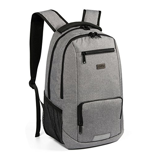 103354c1f47b Frestree Large Capacity Business Polyester Laptop Backpacks Fits Under  15-Inch Shoulder Backpack Grey for Travel Camping