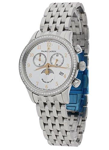 Maurice Lacroix Ladies-Wristwatch Les Classiques Chronographe Phase de Lune Date Analog Quartz LC1087-SD502-121