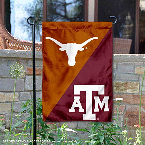 Texas vs. Texas A&M House Divided Garden Flag Banner ()