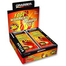 Grabber Insole Foot Warmers - Long Lasting Safe Natural Odorless Air Activated Warmers - Up to 5 Hours of Heat - 30 Pair - Small/Medium